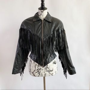 Chia Leather Women's Jacket Size Small